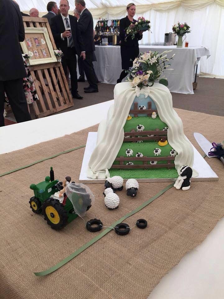 My Beautiful Farm Themed Wedding Cake So Beautiful Weddings In