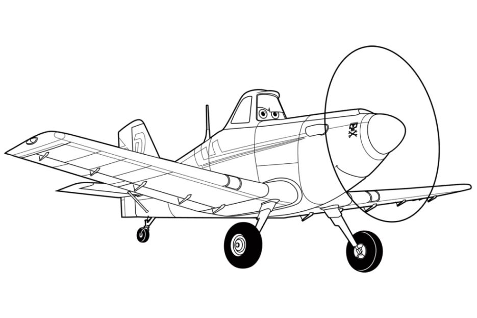 airplane coloring page 07  kostenlose malvorlagen