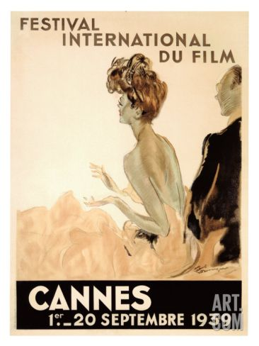 Festival International du Film, Cannes, 1939 Giclee Print by Jean-Gabriel Domergue at Art.com