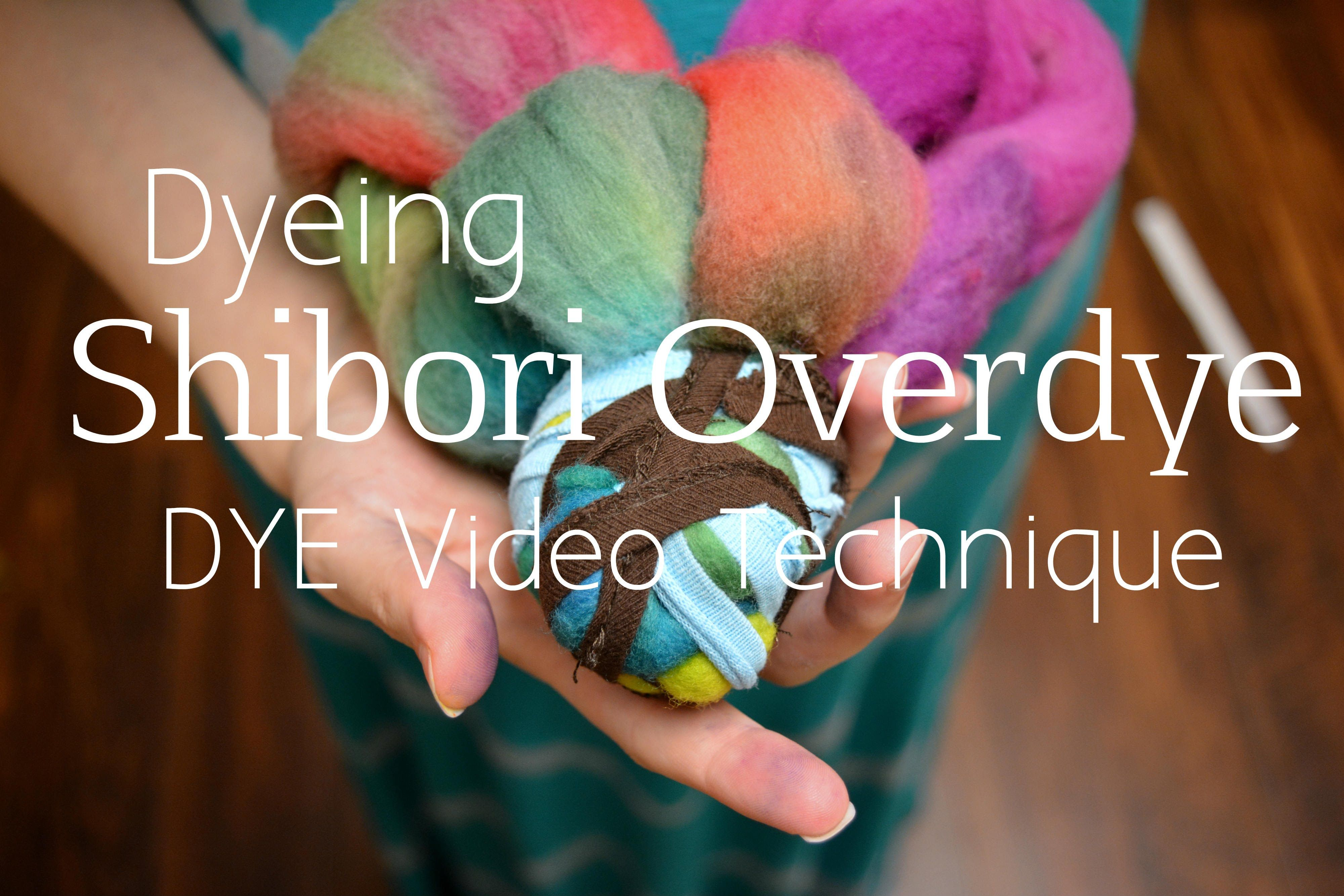 How to Shibori Dye Roving YouTube Recipe book design