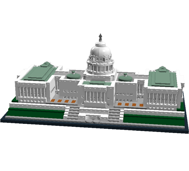 United States Capitol | Lego ideas, Lego and Lego architecture