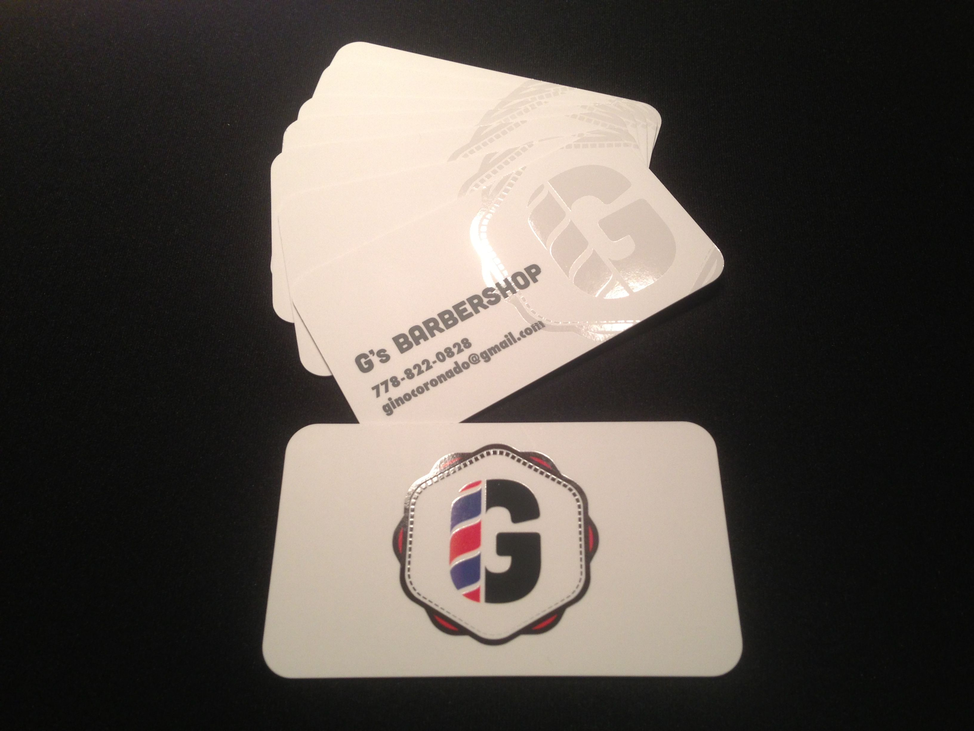 Logo and business card design for G\'s Barbershop | Project 3 ...