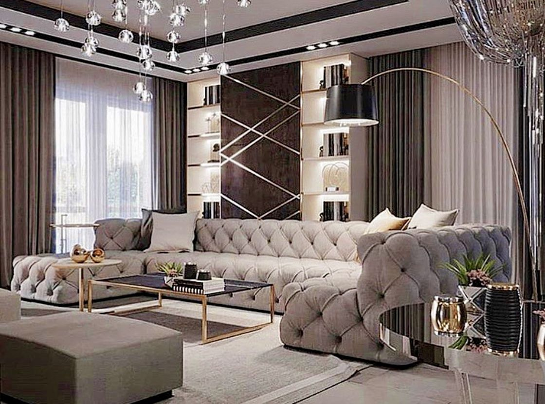 Luxury modern grey living room decor  Living room decor gray