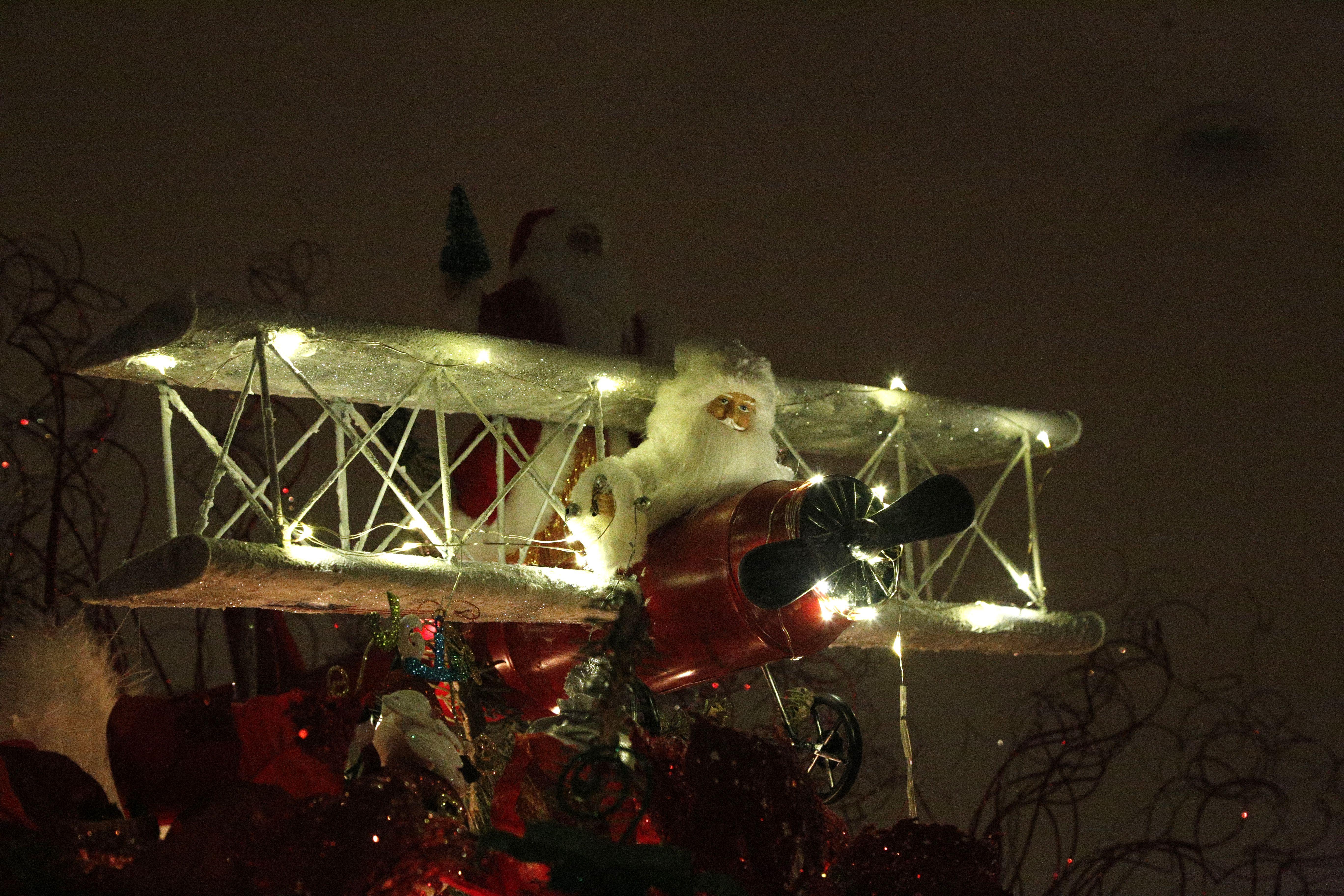 Aviator Christmas Tree Topper Dark Light Plane In The Sky Christmas Tree Toppers Christmas Tree Tree Toppers