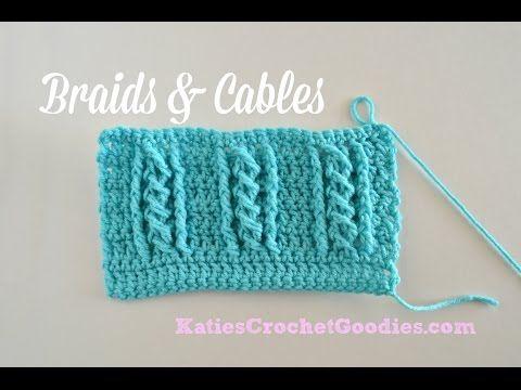 Braided Cable Crochet Stitch #crochetbraids