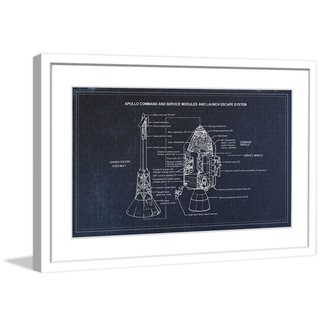 """Marmont Hill - """"Apollo"""" Licensed Smithsonian Framed Art Print"""
