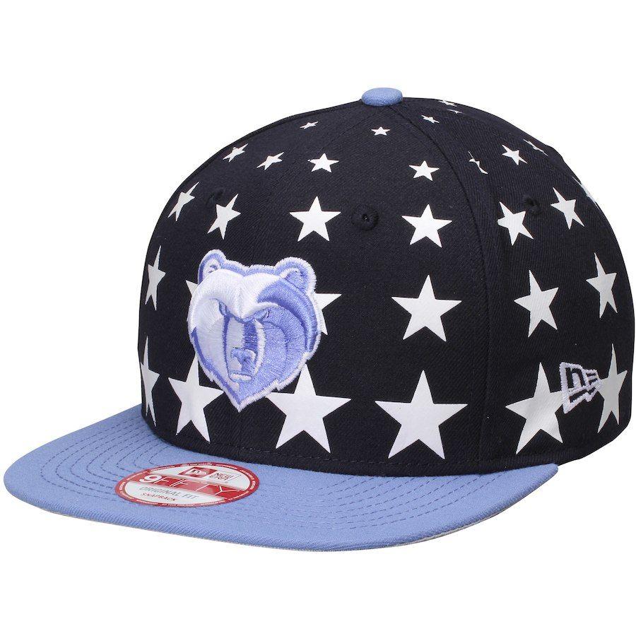 Men s Memphis Grizzlies New Era Navy Light Blue Starry Cap Original 9FIFTY  Adjustable Hat 7286be3690b4