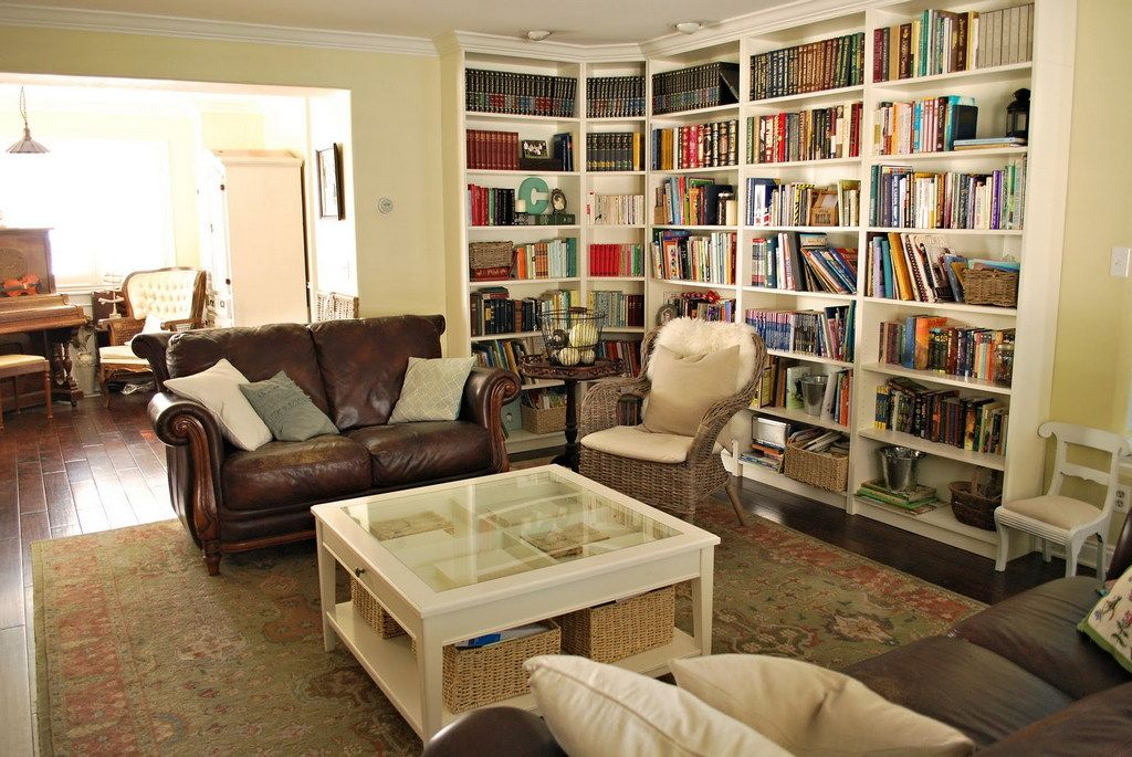 Marvelous White Bookcase With Glass Doors For House Indoor