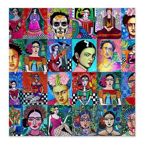 Fridas Mexican Folk Art Painting Mexican Folk Art Folk Art