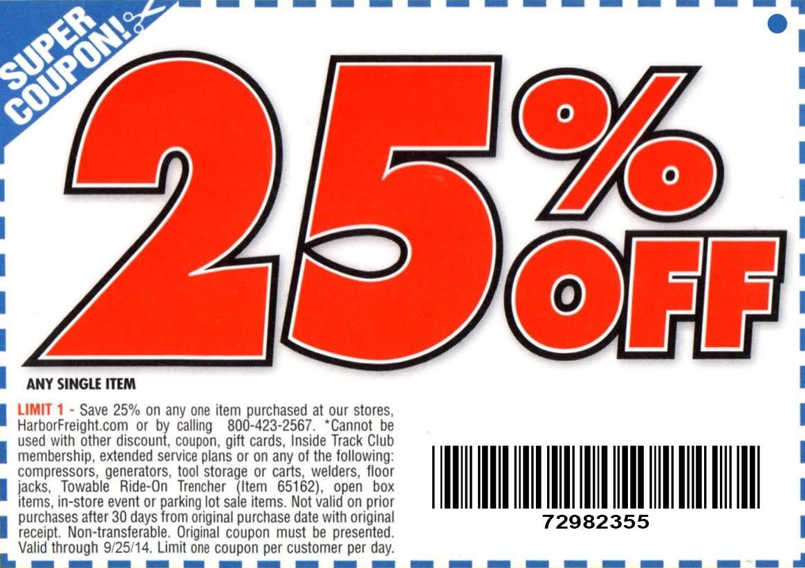 August 2014 free Harbor Freight coupons Google Search