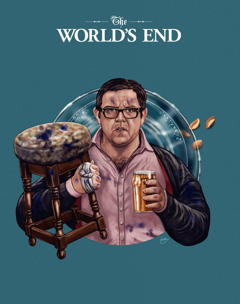 The World S End Andy Knightley By Sam Gilbey Classic Horror Movies Posters End Of The World Art Prints