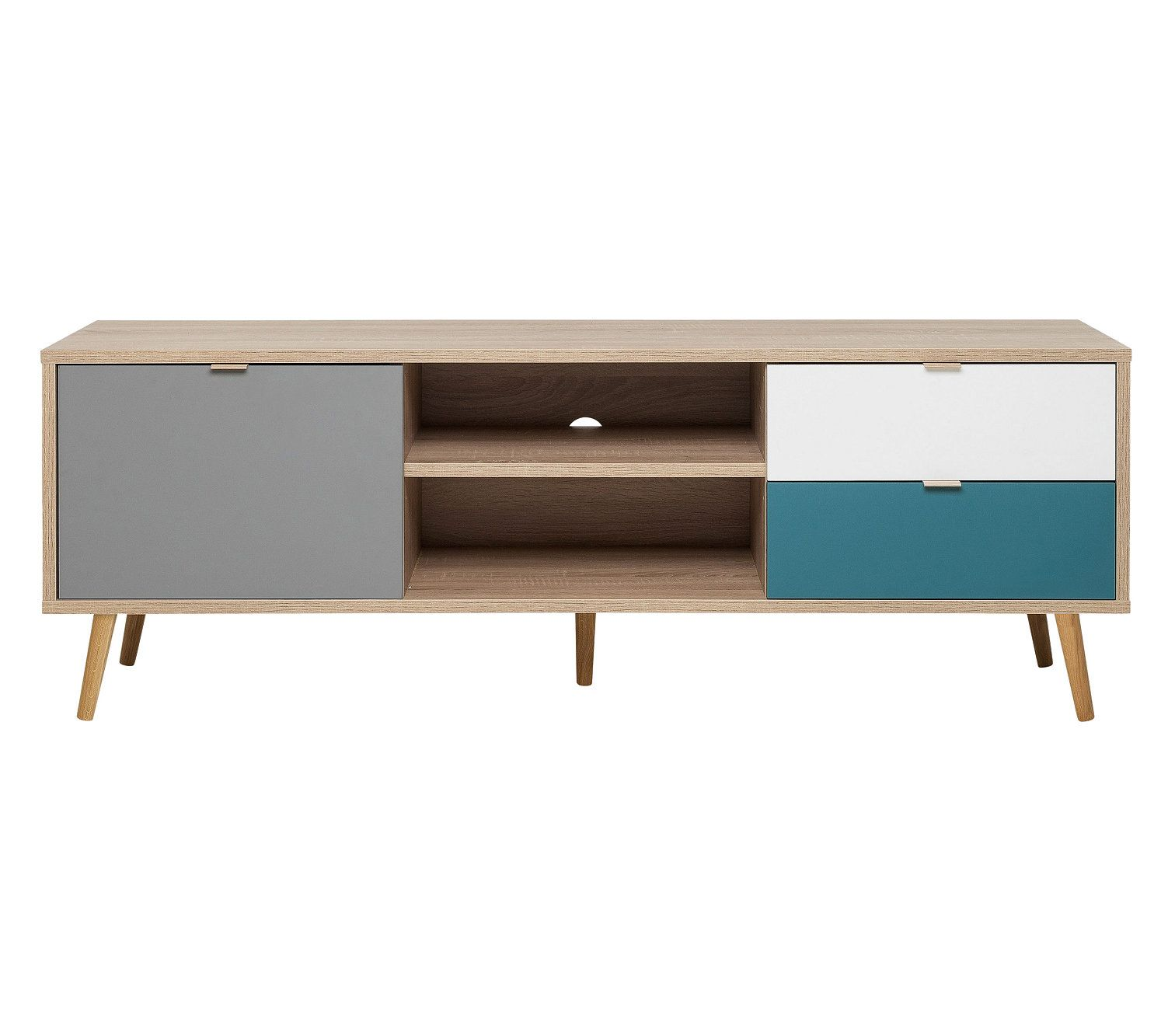 meuble tv scandinave aruba ch ne gris bleu et blanc en. Black Bedroom Furniture Sets. Home Design Ideas