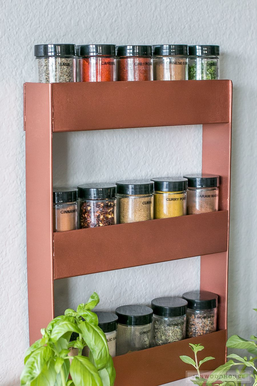 Copper spice rack with images welding projects diy