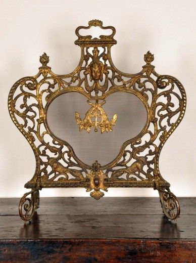 Antique Fire Screen Antique Brass Fire Screen French Antiques