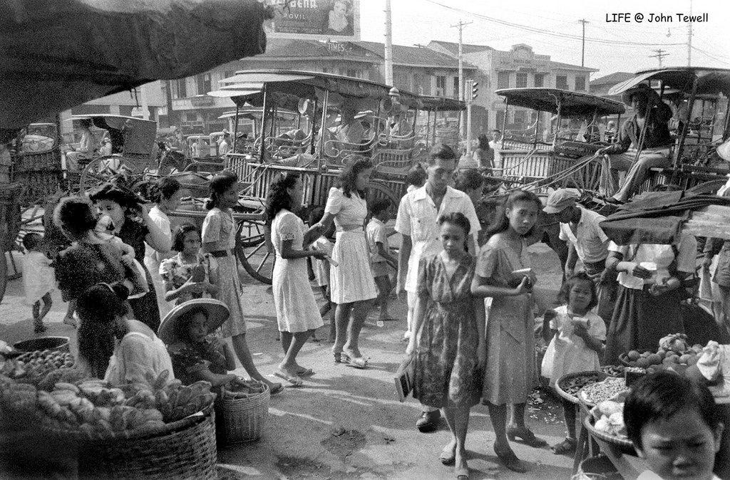 Marketplace Manila Philippines May 1945 1 Philippines