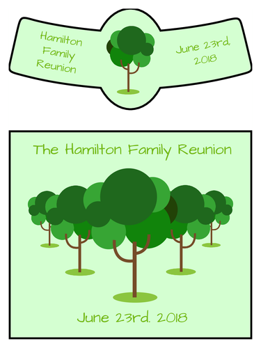 Family Reunion Beer Bottle Label Template  Gifts