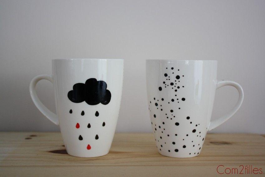 diy customisation mug et test des crayons sans cuisson c. Black Bedroom Furniture Sets. Home Design Ideas