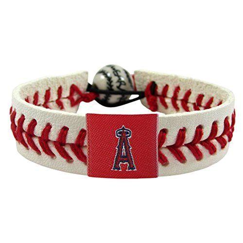 Los Angeles Angels Classic Baseball Bracelet LAA MLB Leather Stitch
