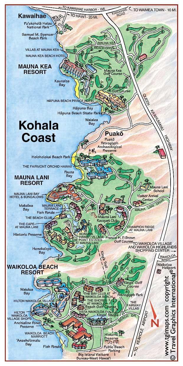 Kohala Hawaii Map.Kohala Coast Vacation Kohala Coast Map This Is Partylite S Next