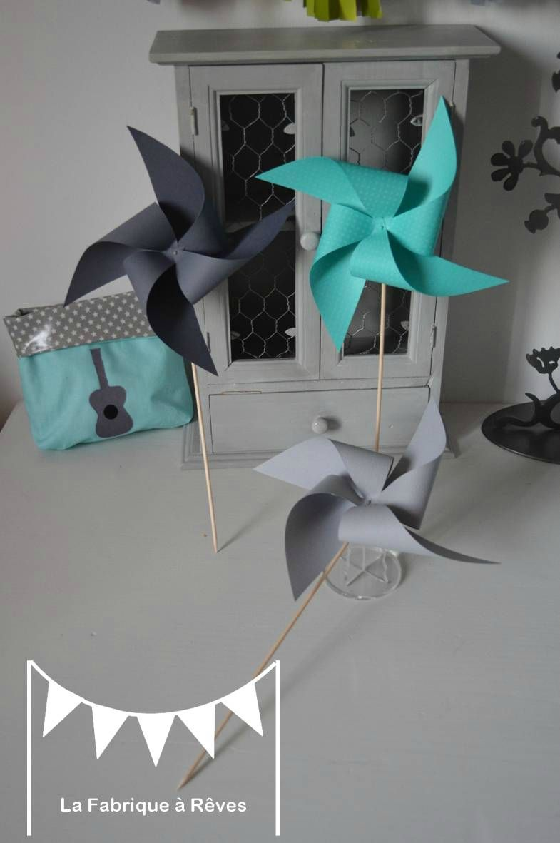 moulins à vent turquoise gris mariage photobooth bapteme baby shower ...