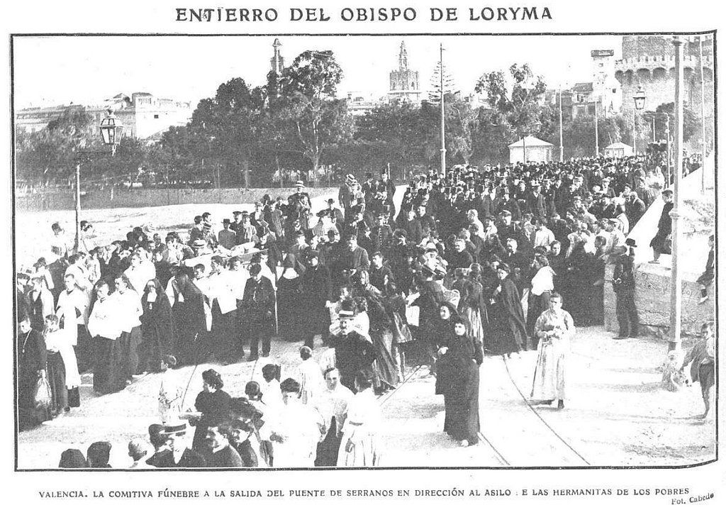Entierro del Obispo de Loryma (Junio de 1909)