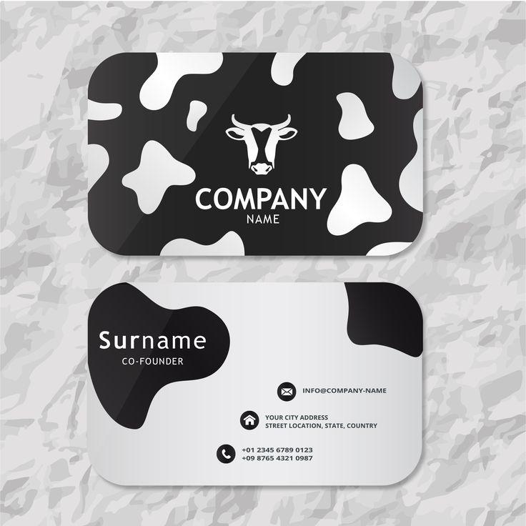 Cow business card business card design unique business