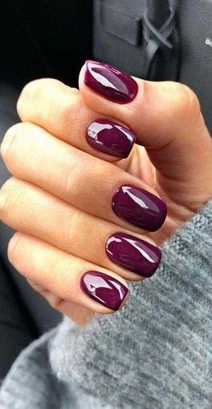 Popular Fall Nail Colors For 2020 Beauty Nails In 2020 Nail Polish Art Designs Nail Colors Winter Simple Nails