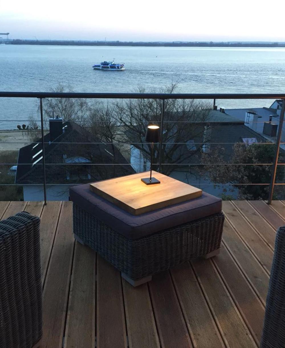 Nuindie Akku Tischleuchten Dimmbar Sigor Prediger In 2020 Leuchten Tischleuchte Balkon Lampe