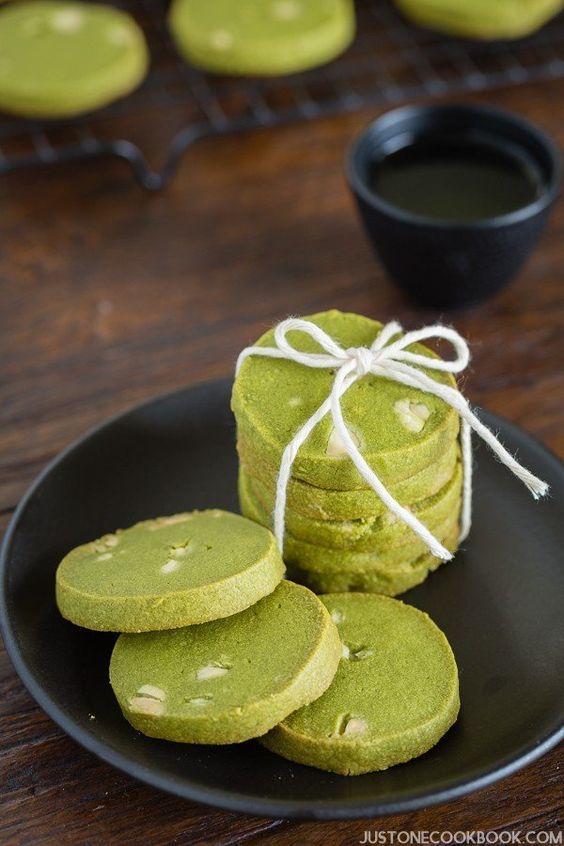 Green Tea Cookies: http://www.justonecookbook.com/green-tea-white-chocolate-cookies/