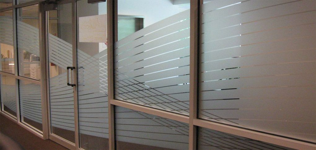 Decorative window films for commercial storefronts pine - Interior window tinting for privacy ...