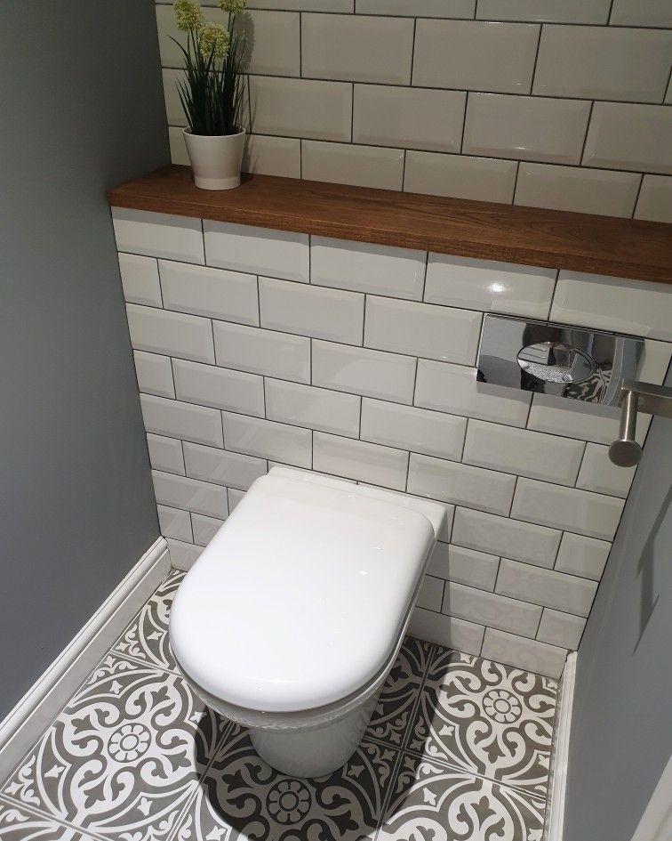 Cloakroom Revamp #downstairstoilet Weekend revamp in our downstairs cloakroom, m…