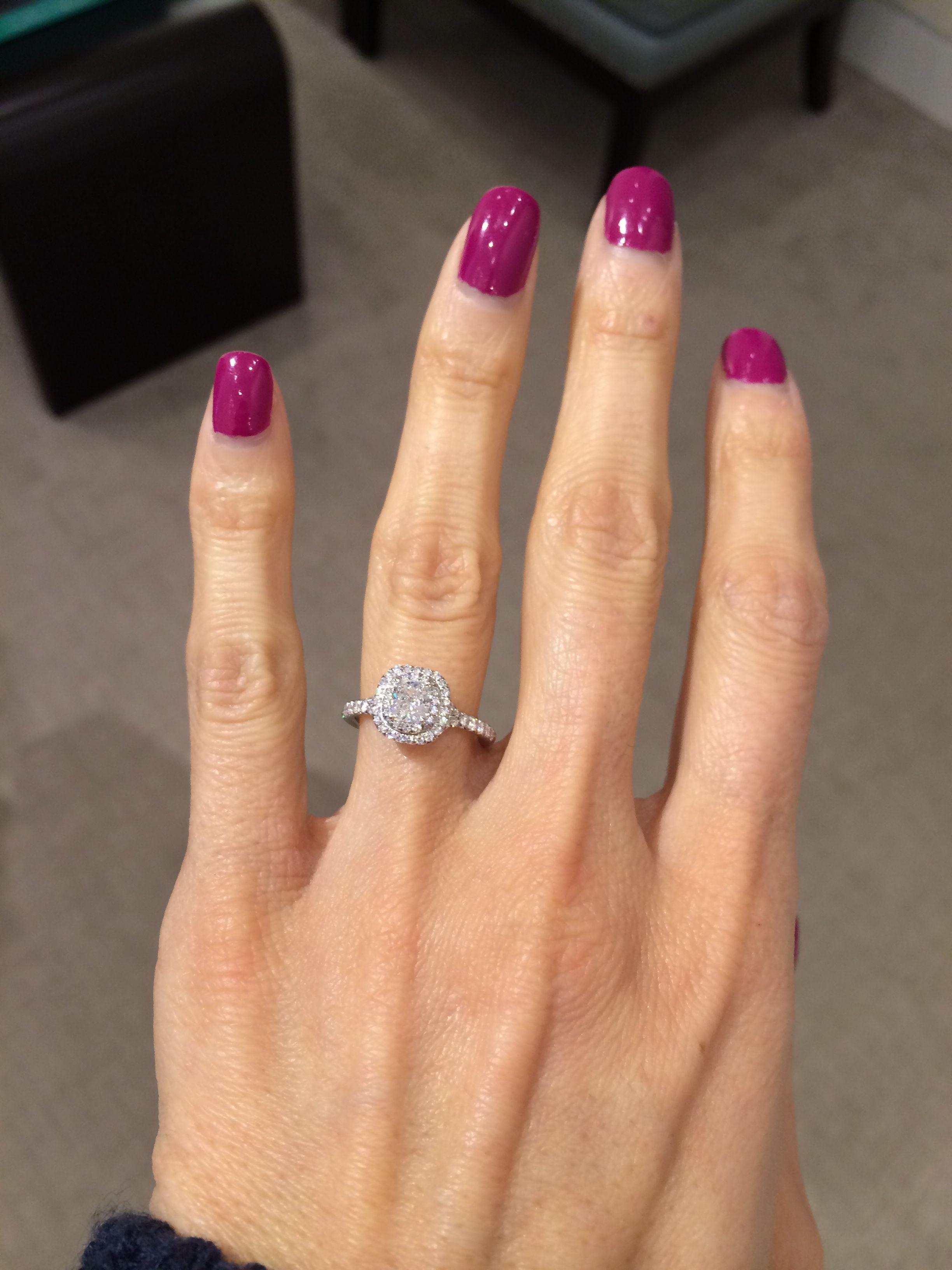 8d7f1df3df5af0 Tiffany Soleste Engagement Ring. Tiffany Soleste Engagement Ring Round Halo  ...