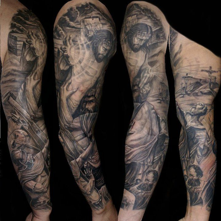 Christian Sleeve Tattoos For Men