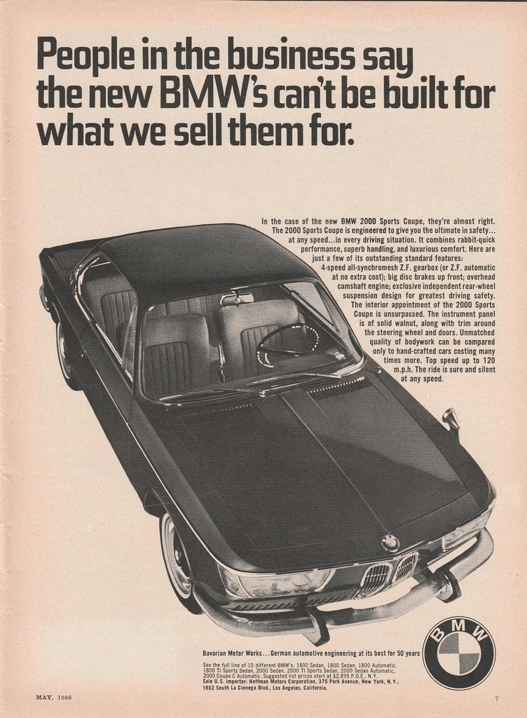 1973 BMW 3.0 CS SPORT COUPE Authentic Vintage Ad ~ FREE SHIPPING!