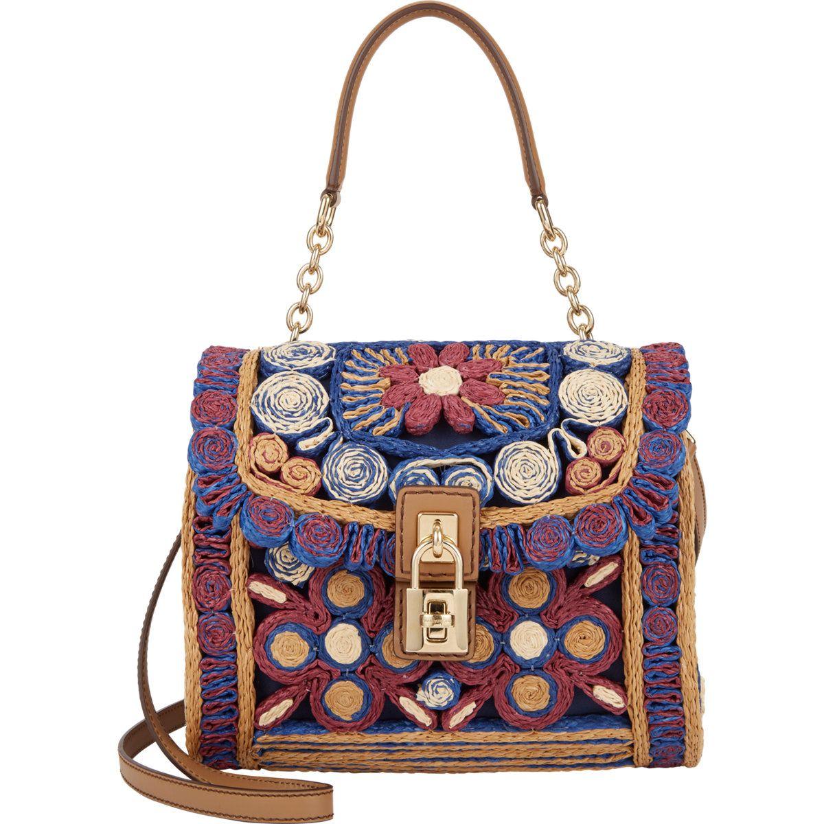 Dolce Gabbana Raffia Miss Bag