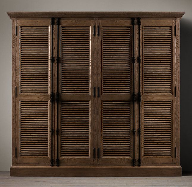 RH's Shutter 4-Door Cabinet:Angled louvers, an architectural detail first used in ancient Greece, have found a new place in the home.