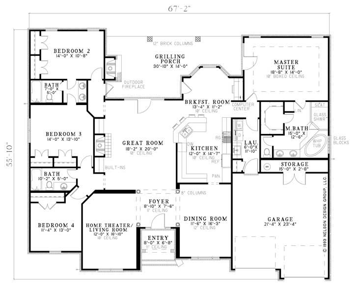 Nelson Design Group House Plans Design Services Country Club Drive Traditional House Plans House Plans One Story European House Plans