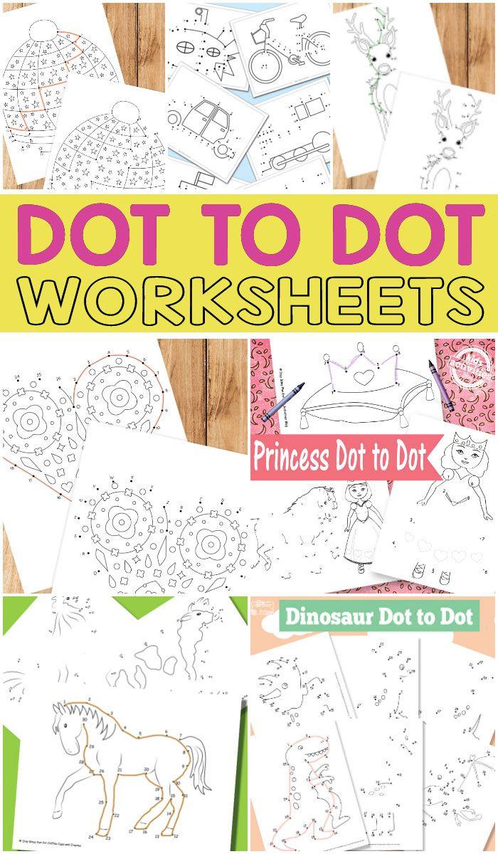 Printable Dot to Dot Worksheets for Kids   Kinder lernen, Prickeln ...