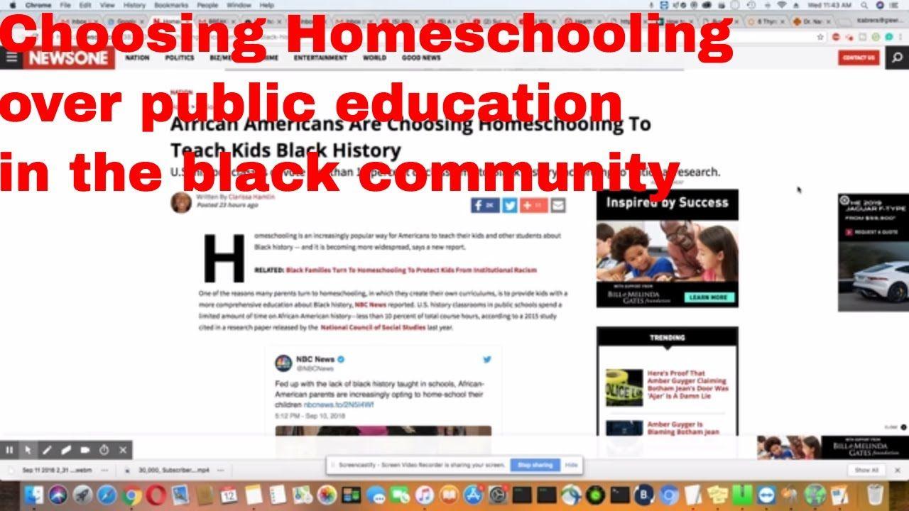 More African Americans Choose Homeschooling Homeschool