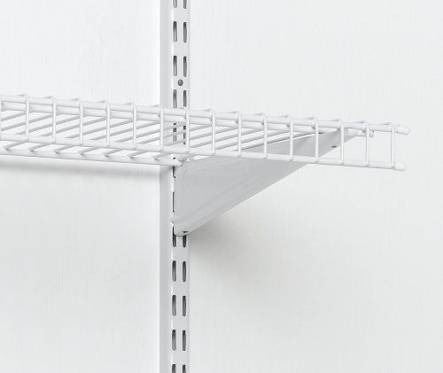 Closetmaid 12 Inch Shelftrack Standard White 2800 By Closetmaid 3 79 12 Inch Shelftrack Standard For Use Wire Shelving Shelf Brackets Wire Closet Shelving