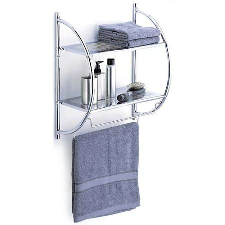 Home Improvement Chrome bathroom shelves, Bath shelf