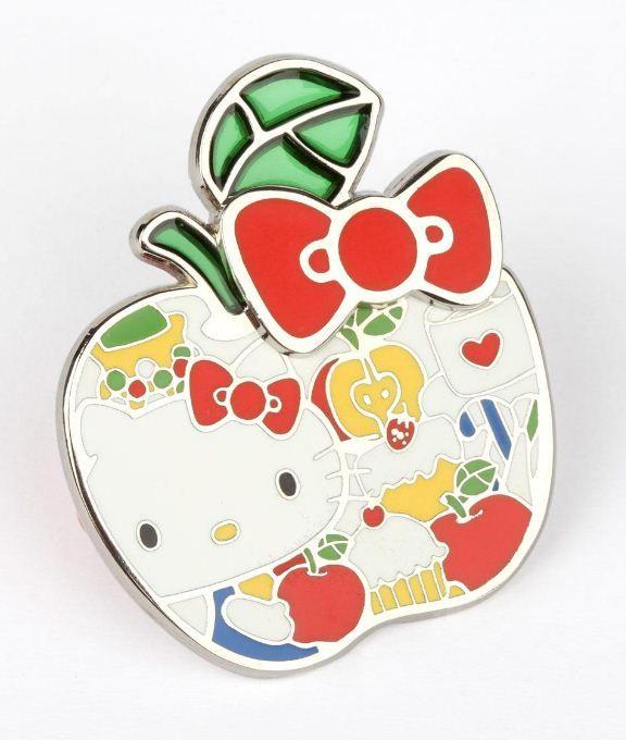 Detailed #HelloKitty jumbo sized pin - sweet apple!