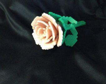 3d Perler Minecraft Rose Pattern Free Shipping 3d Rose Perler Beads 3d Perler Bead Perler Beads Designs Perler Bead Templates