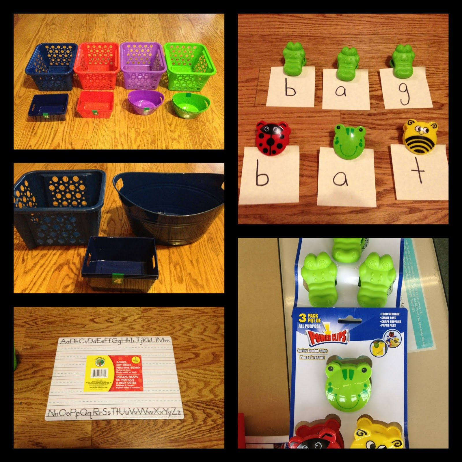 Literacy Without Worksheets Dollar Store Ideas
