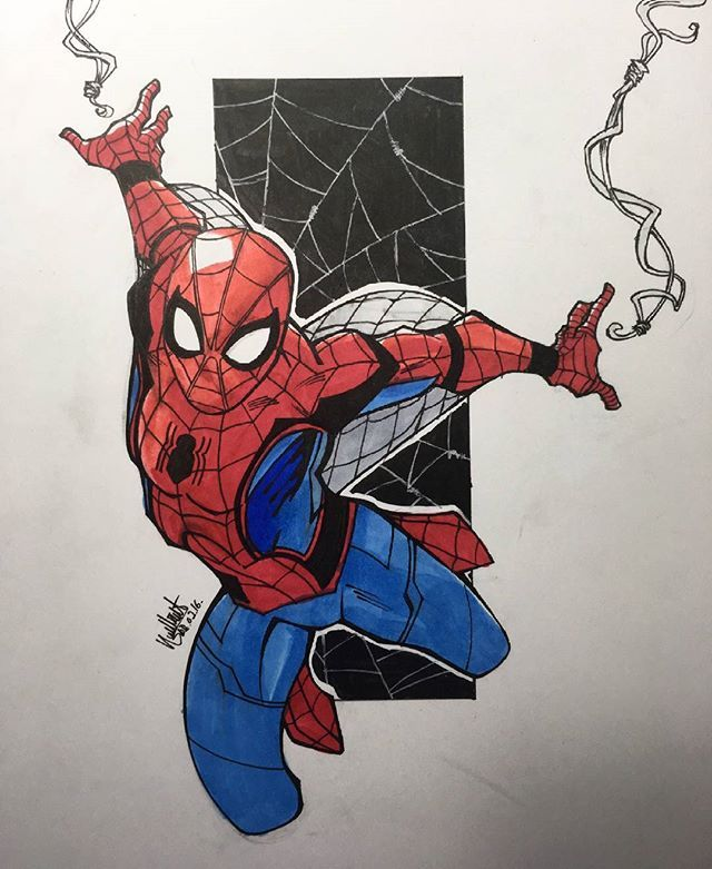 Spider Man Homecoming With Images Spiderman Drawing