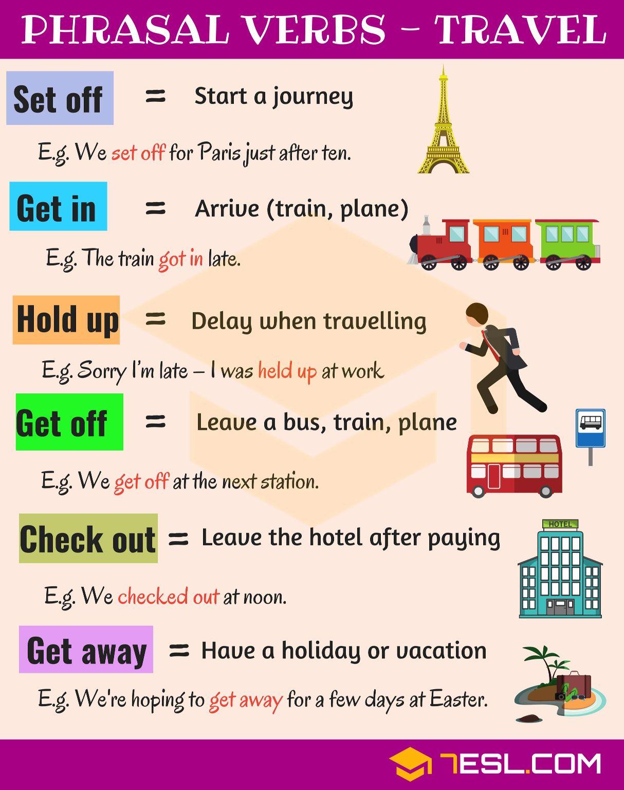 Phrasal Verbs Travel Learn English Words Learn English English Grammar [ 1536 x 1214 Pixel ]