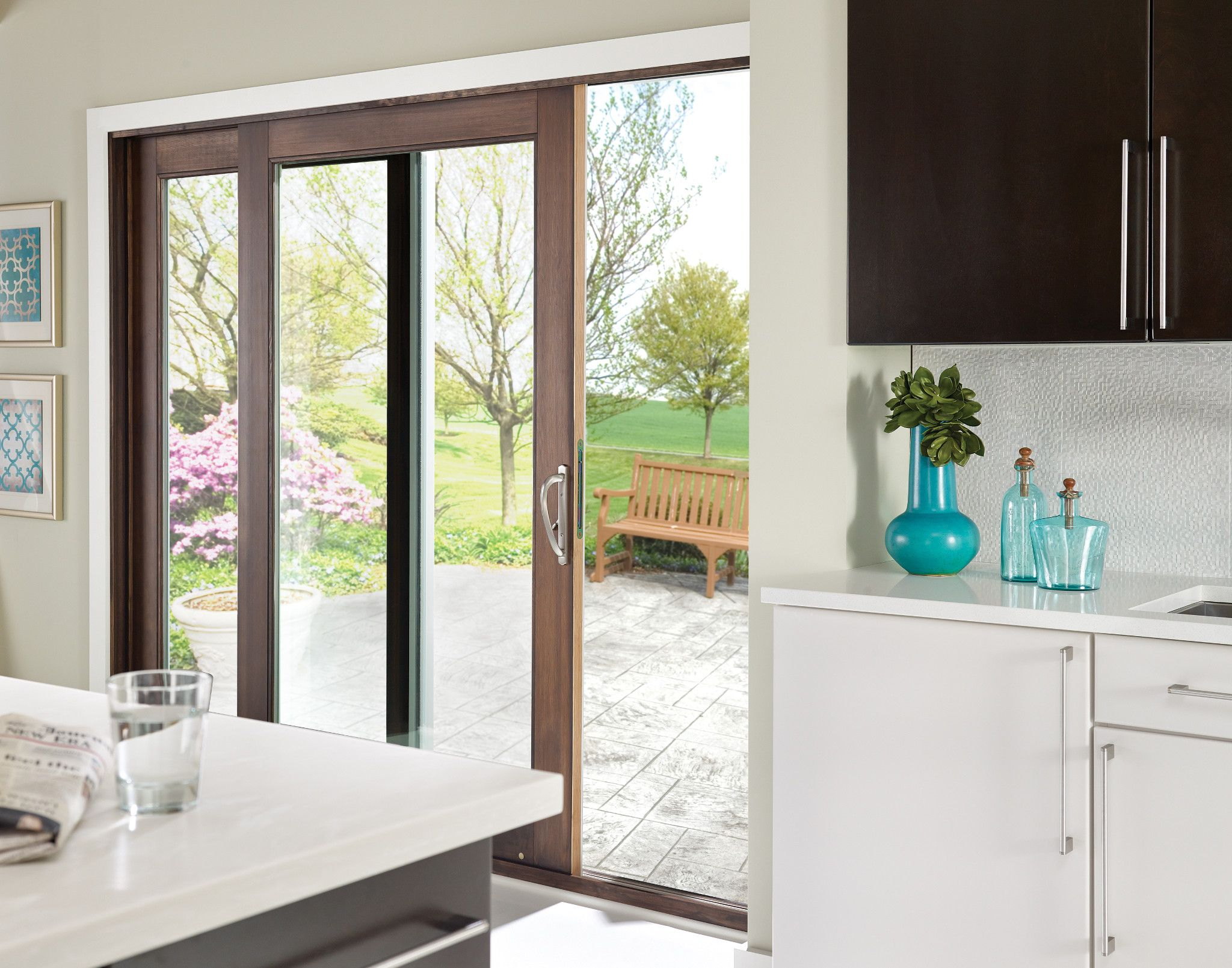 Bring The Outdoors In With Ply Gem S Sliding Patio Doors Modern Sliding Doors Patio Doors Kitchen Patio Doors