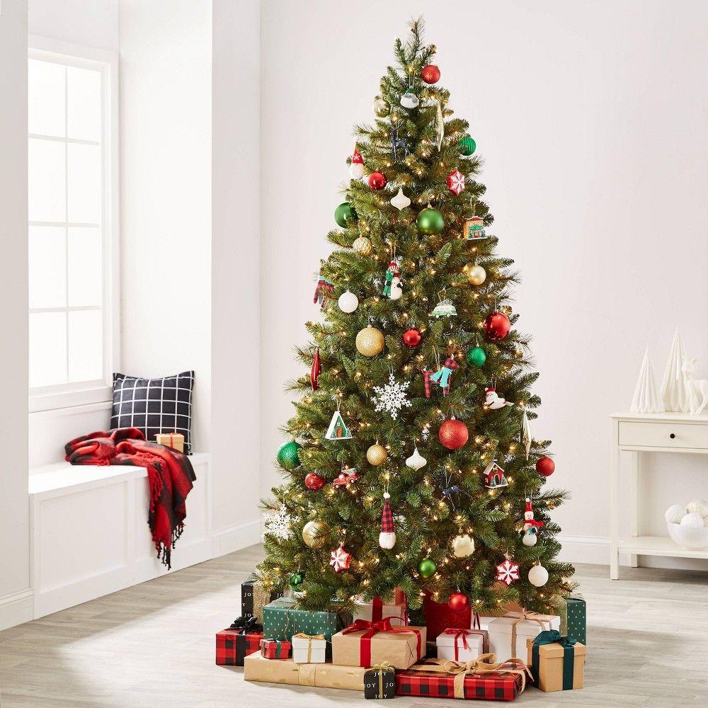 85pc Winter Farmhouse Christmas Ornament Kit Wondershop In 2020 Farmhouse Christmas Ornaments Christmas Ornament Sets Cool Christmas Trees