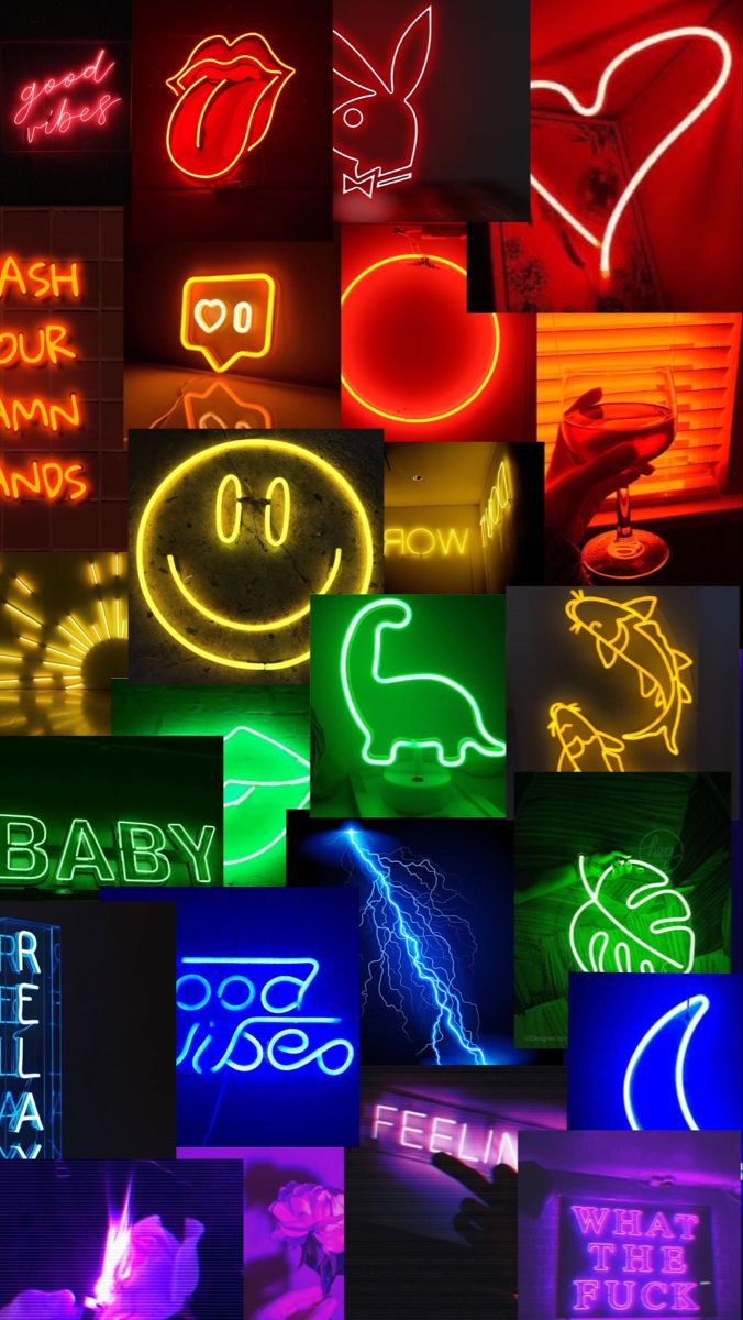 neon rainbow wallpaper