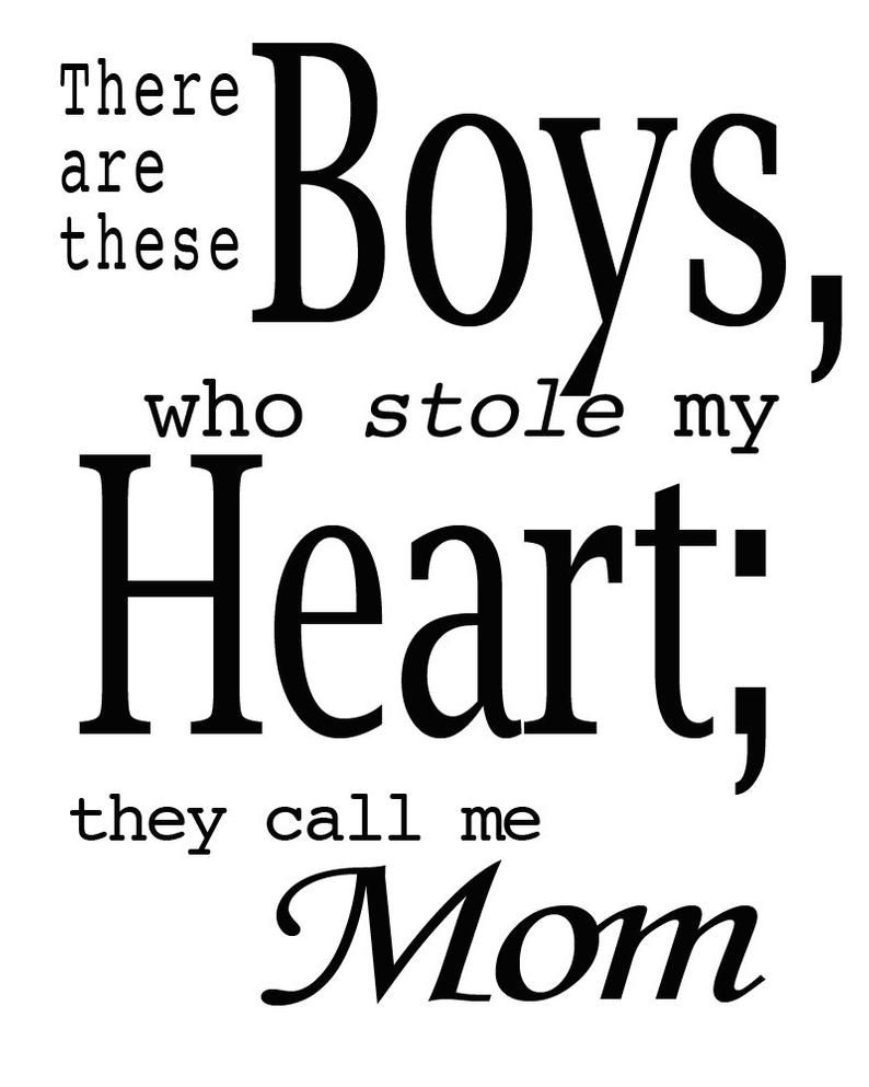 There Are These Boys Quote Calligraphic Art Printable Wisdom Mom